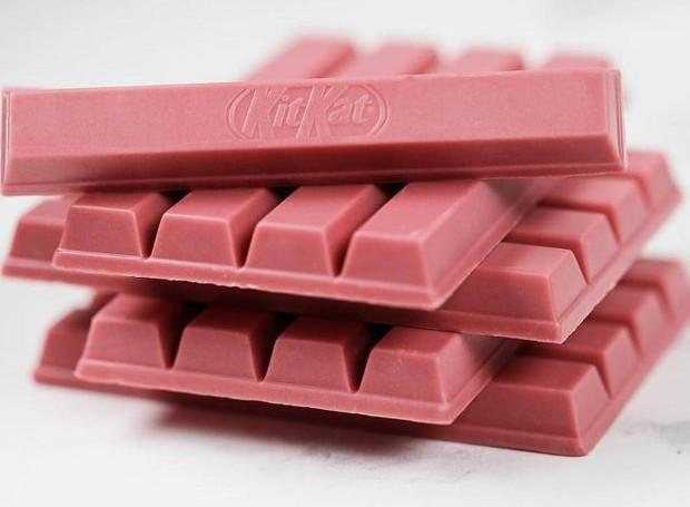 No ano passado, uma versão relâmpago do Kit Kat Rubi foi disponibilizada  (Foto: Callebaut/ Reprodução)