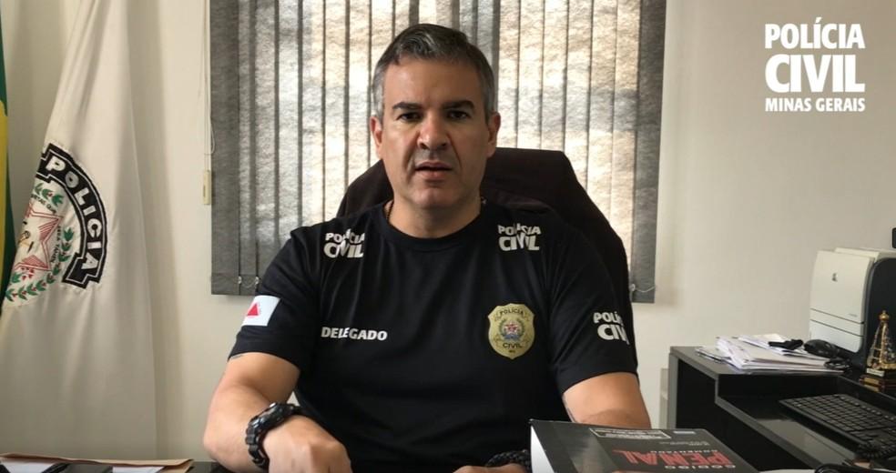 Delegado Renato Gavião fala sobre investigações de morte de psicóloga em Pouso Alegre — Foto: Polícia Civil