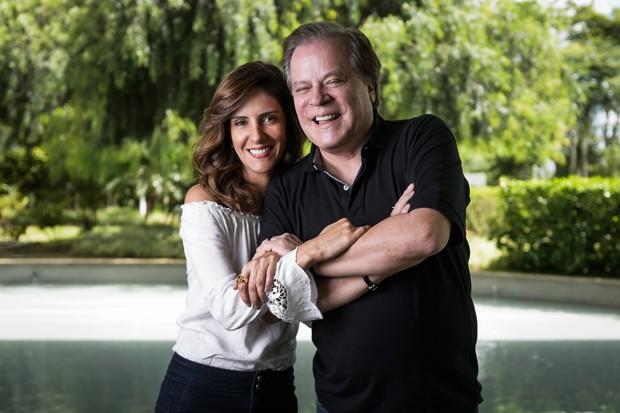 Monalisa Perrone e Chico Pinheiro (Foto: Ramon Vasconcelos/Globo)