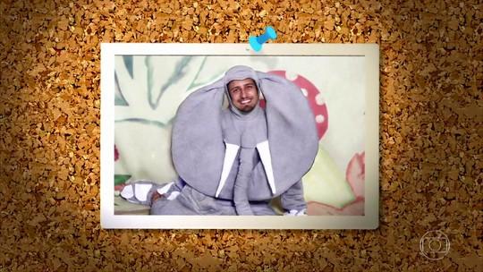 Daniel Rocha se veste de elefante no quadro 'Memória Fotográfica': 'Mico'
