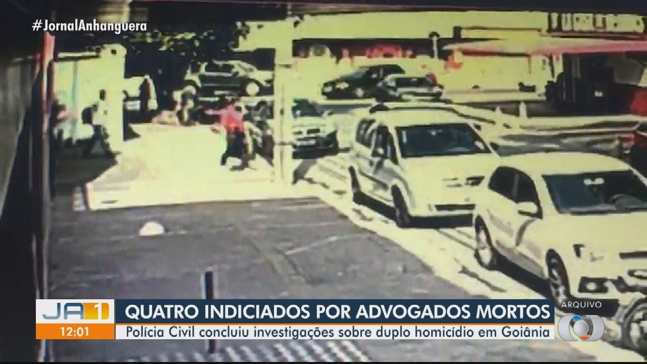 Polícia indicia quatro pessoas pela morte de dois advogados a tiros, em Goiânia