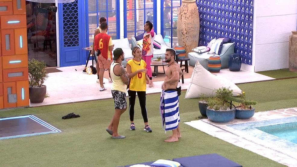 Sarah revela sobre Prova do Líder no BBB21: 'Atrapalhei' — Foto: Globo