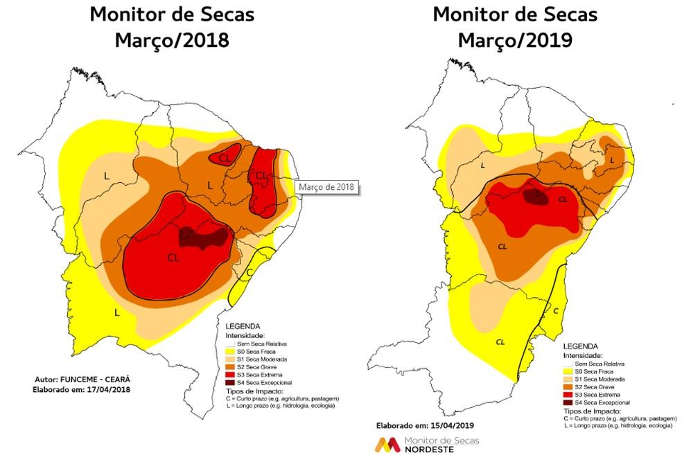 Monitor de Secas — Foto: Monitor de Secas Nordeste