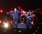 O cantor Lionel Richie durante um show no Rio de Janeiro, em 2016   Divulgação