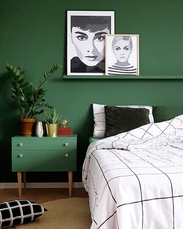 Décor do dia: quarto todo verde com toques vintage (Foto: Reprodução/Divulgação)