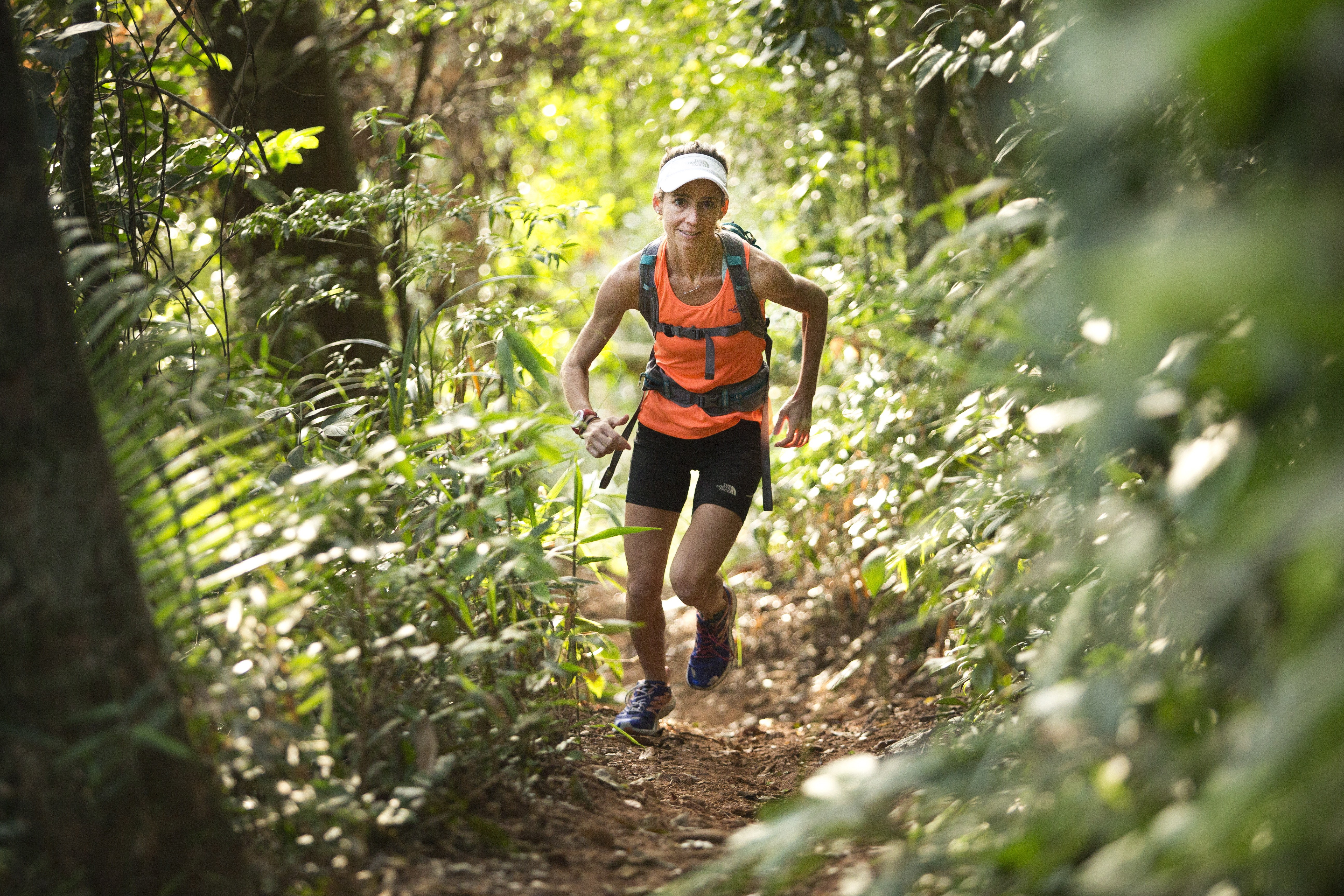 Rosália nas trilhas, onde prefere correr
