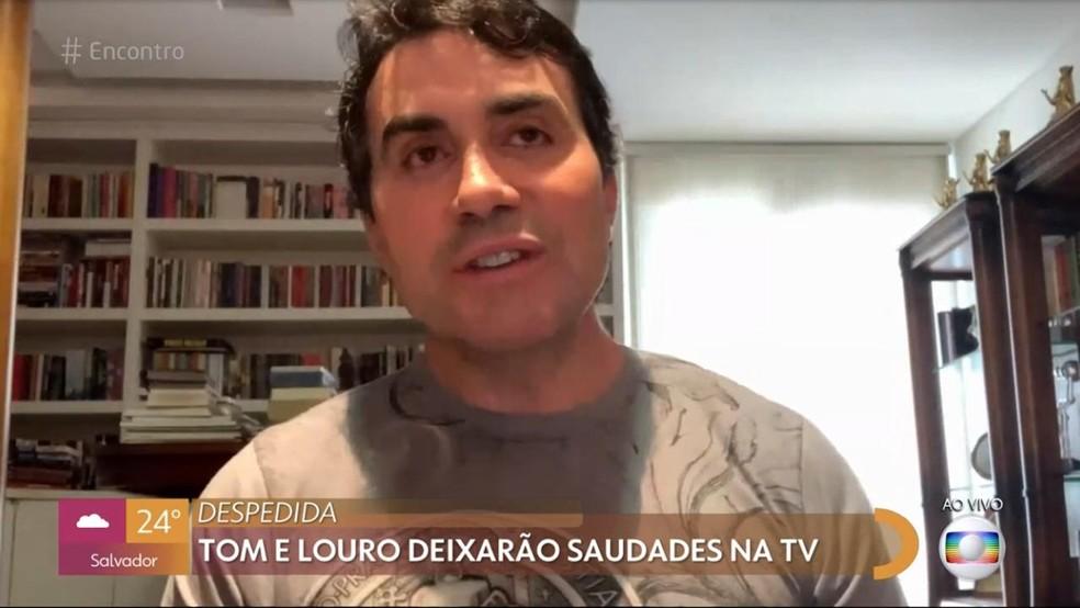 Padre Fábio de Melo comenta a morte de Tom Veiga e Louro José  — Foto: Globo