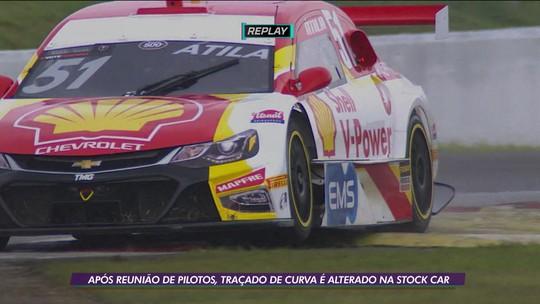 Após reunião de pilotos, traçado de curva é alterado na Stock Car