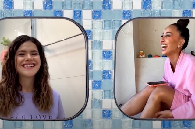 Maisa Silva com Sabrina Sato (Foto: Reprodução)