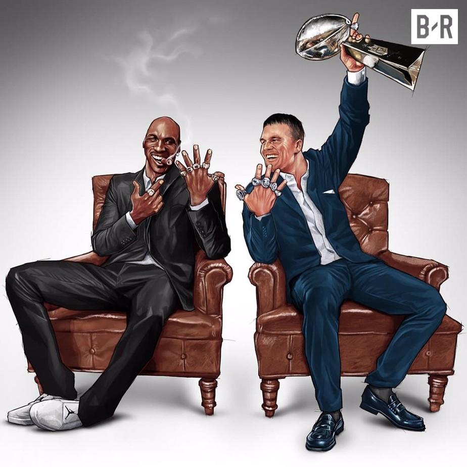 rozsądna cena Data wydania: kupować Tom Brady x Michael Jordan: sexto título da NFL dos Patriots ...