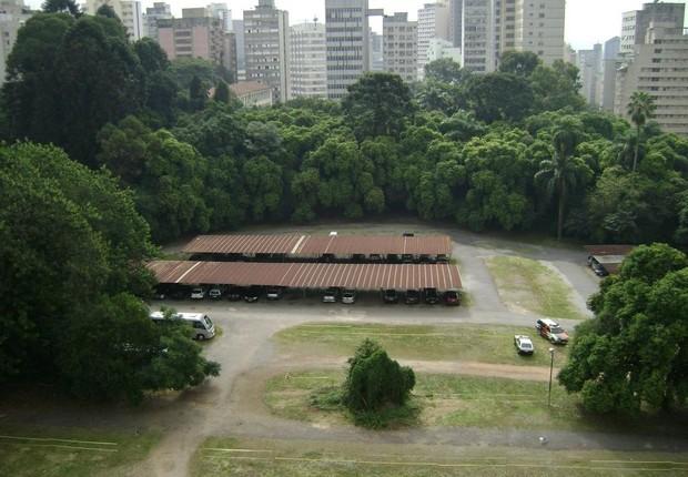 Vista do alto de uma parte do terreno onde será construído o Parque Augusta em São Paulo (Foto: Reprodução/Facebook)