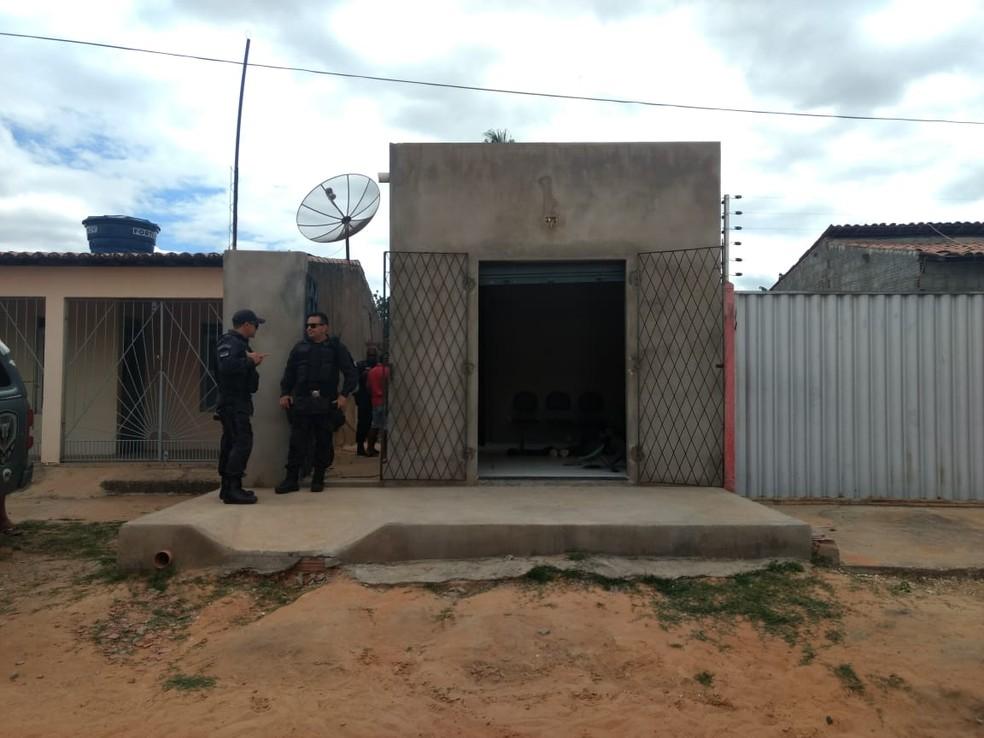 Crime foi dentro do salão de beleza, localizado no Pousada dos Thermas, em Mossoró (Foto: Isaiana Santos/Inter TV Costa Branca)