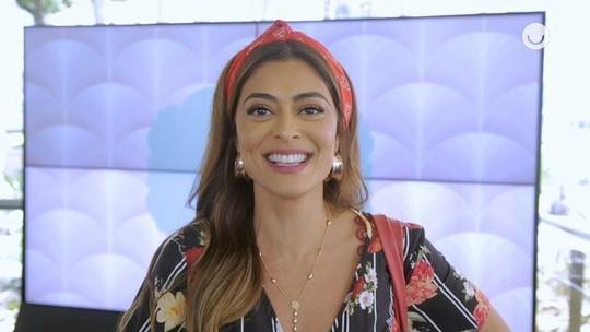 Juliana Paes lembra primeira vez nos Estúdios Globo: 'As minhas canelas tremiam'
