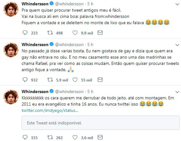Whindersson Nunes fala sobre tweets antigos (Foto: Reprodução)