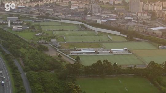 Vídeo: veja imagens aéreas do futuro CT da base do Corinthians; clube quer finalizar obra até abril