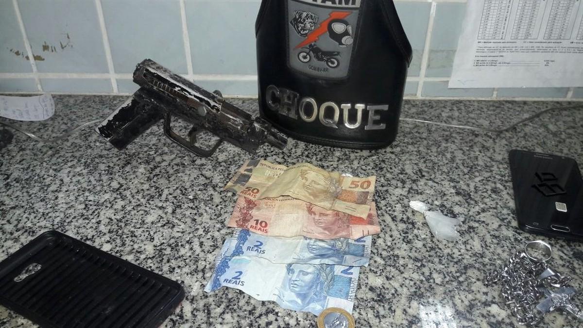 Menor é apreendido com arma caseira e porção de cocaína em Boa Vista