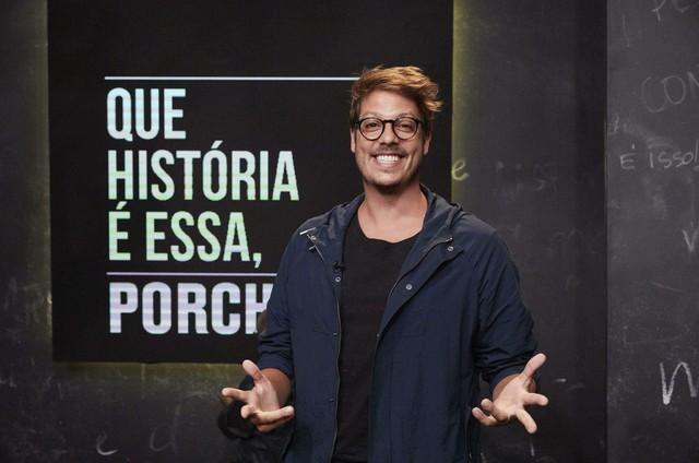 Fabio Porchat no 'Que história é essa, Porchat?' (Foto: GNT)