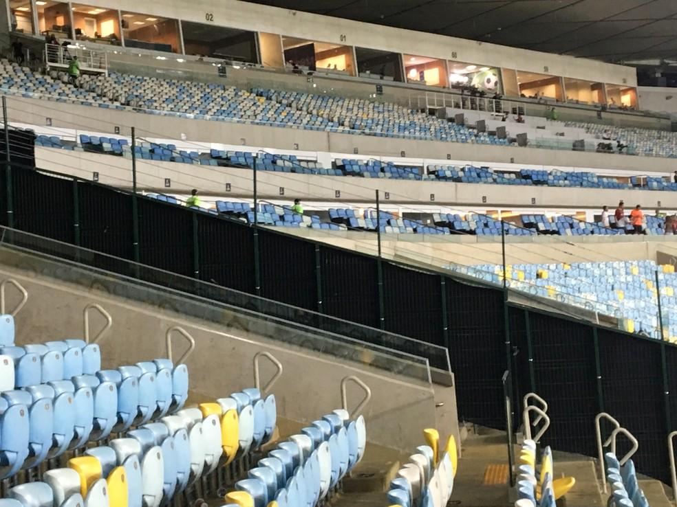 A ideia é separar as organizadas do restante do público (Foto: Caio Blois / GloboEsporte.com)
