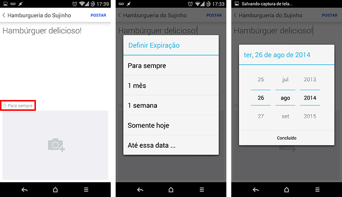 Foursquare permite definir data de expiração de dicas postadas na rede (Foto: Reprodução/Paulo Alves)