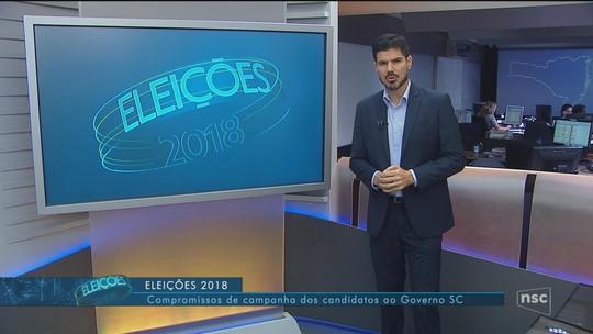 Veja a agenda dos candidatos ao governo de SC nesta quinta-feira (27)