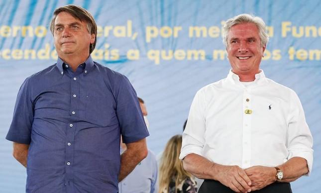 O presidente Jair Bolsonaro e o senador Fernando Collor em Alagoas