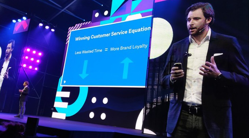 Robert Vis, cofundador e CEO do MessageBird, durante o TNW 2019 (Foto: Redação)