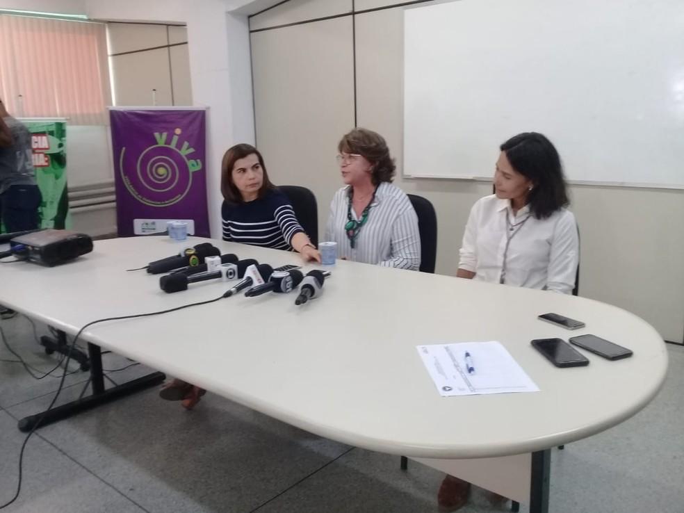 Coletiva das secretarias de Saúde sobre a 'doença misteriosa' em Salvador — Foto: Cid Vaz/TV Bahia
