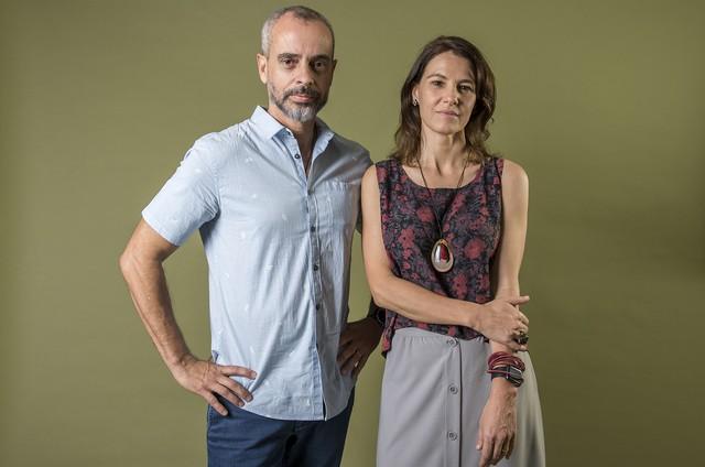 Marcos Nisti e Estela Renner (Foto: Fábio Rocha/Globo)