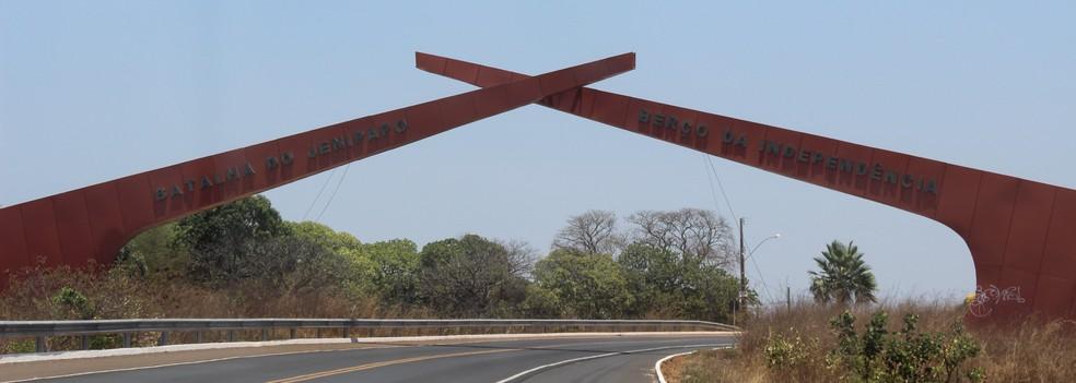 Monumento da Batalha de Jenipapo em Campo Maior — Foto: Josiel Martins