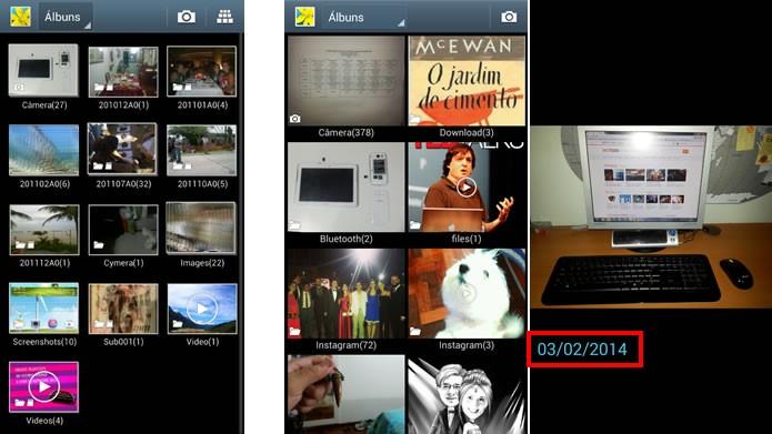 O aplicativo Galeria está muito melhor no Android 4.3, carregando melhor os arquivos de imagem e exibindo fotos e vídeos com mais fluidez (Foto: Reprodução/Daniel Ribeiro)