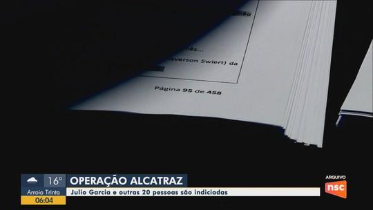 Deputado Julio Garcia, presidente da Alesc, é indiciado na Operação Alcatraz por quatro crimes