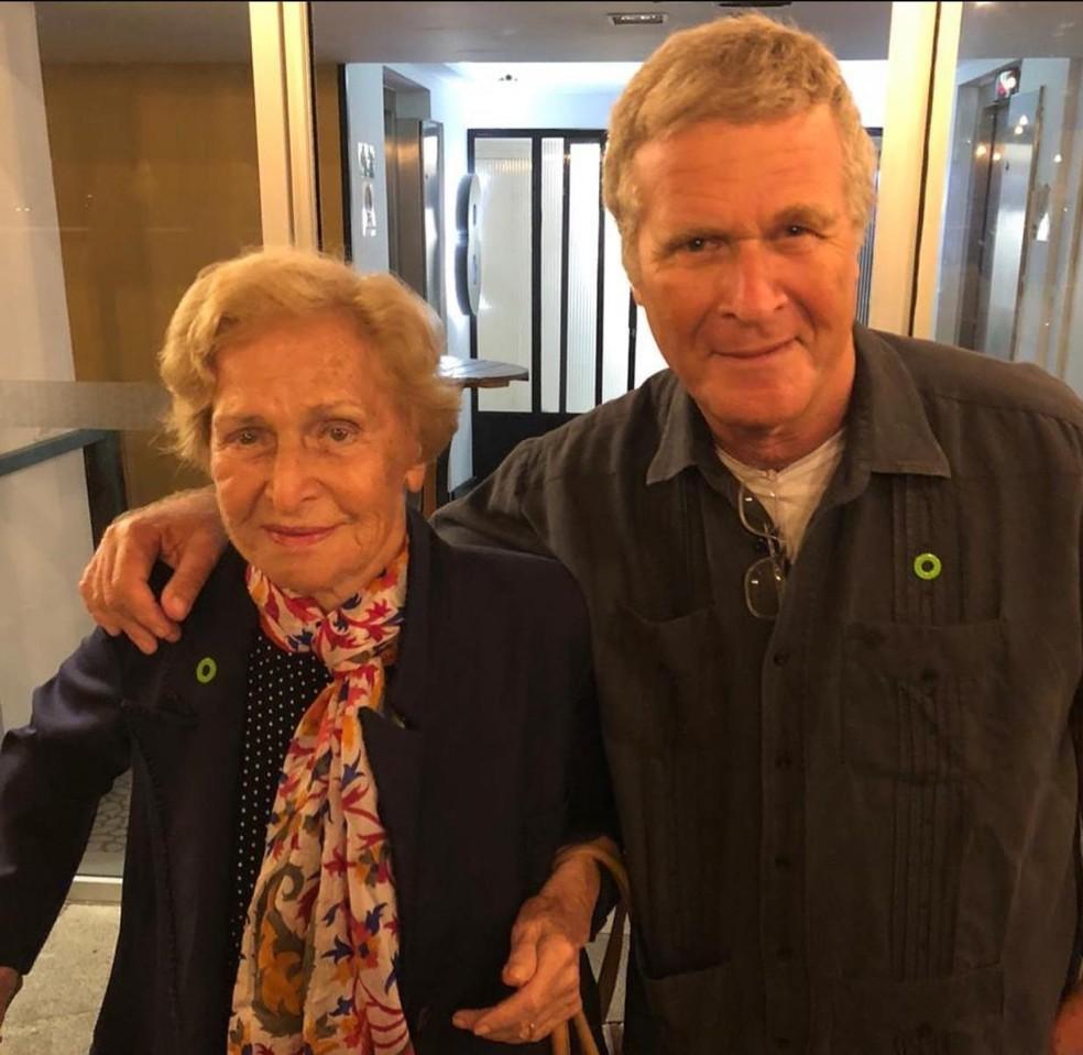 Alfredo Sirkis com a mãe Liliana  — Foto: Reprodução/Redes sociais