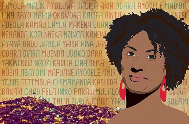 Marielle (Foto: Ilustração Silvana Martins e Nina Vieira)