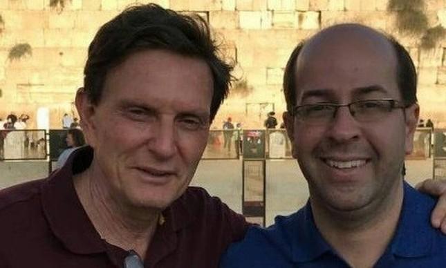Rafael Alves em 2016, em visita a Jerusalém com o prefeito Marcelo Crivella