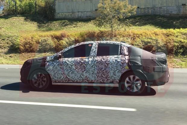 Novo Chevrolet Prisma terá entre-eixos bem maior (Foto: Alexandre Muselli/Autoesporte)