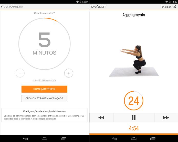 Sworkit Lite Personal Trainer ajuda a fazer exercícios físicos de onde estiver (Foto: Divulgação)
