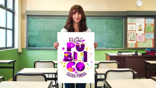 Com parceiros de Educação, Globo lança campanha de valorização do ensino público