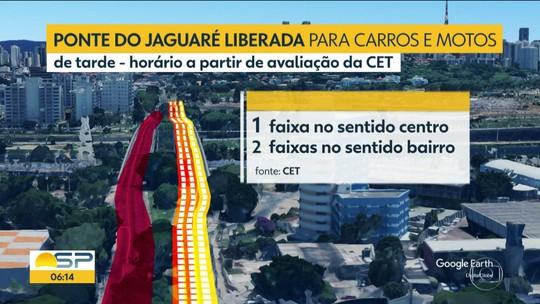 Ponte do Jaguaré é parcialmente reaberta nesta terça após incêndio