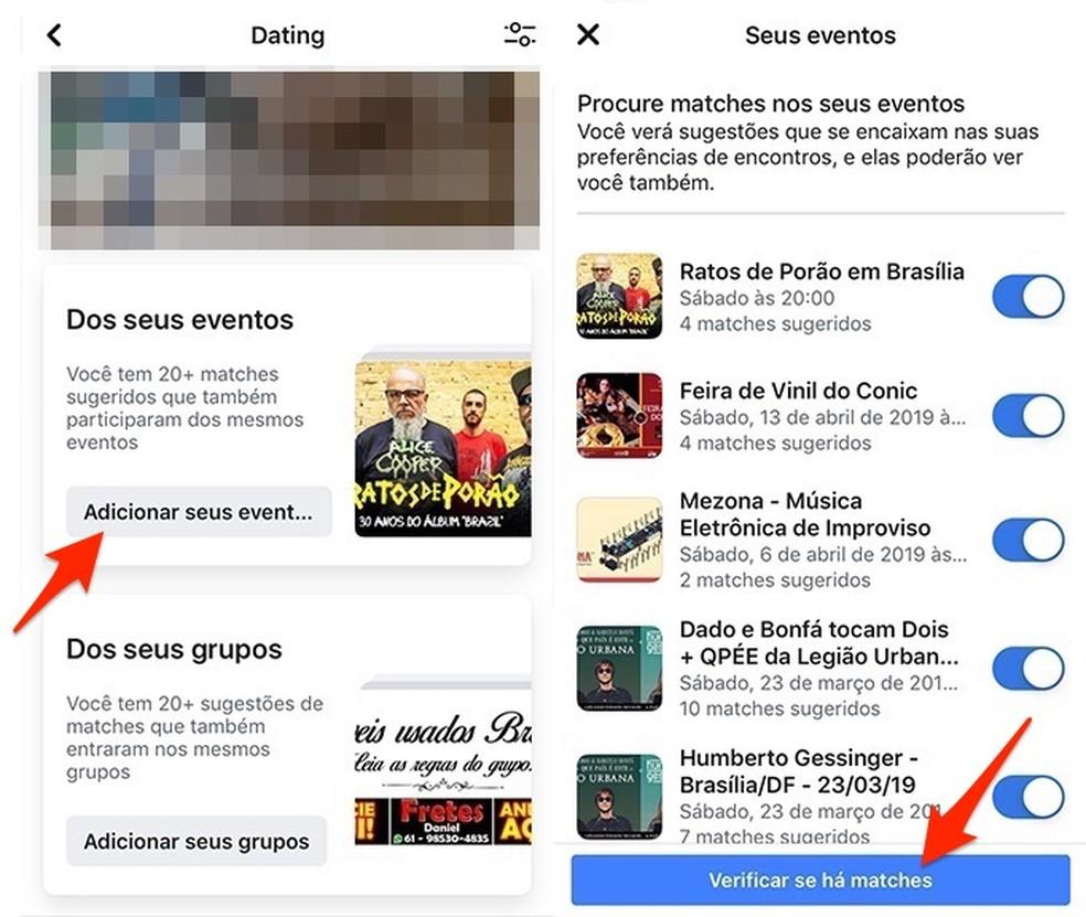 Ação para ver pessoas do Dating interessadas nos mesmos eventos que você no Facebook — Foto: Reprodução/Marvin Costa
