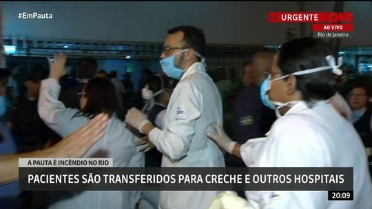 Pacientes são transferidos devido a incêndio em hospital na Tijuca, no Rio