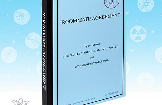 Diário inspirado no livro de regras da boa convivência entre os moradores do apartamento de 'Big Bang theory' (Foto: Reprodução da internet)