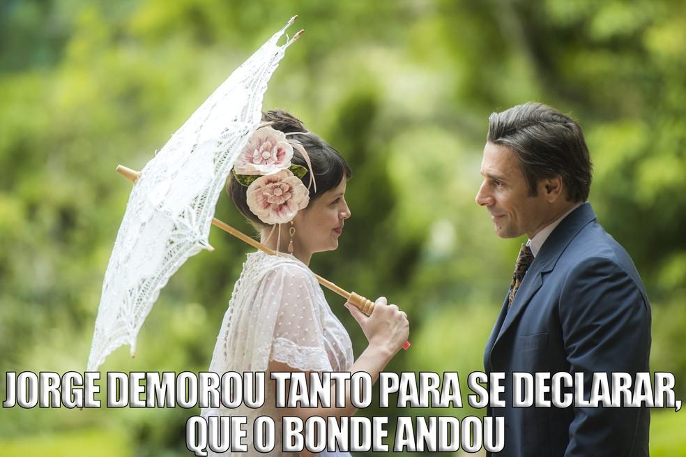 Quantos desencontros rolaram entre Ema e Jorge, hein!  (Foto: Raquel Cunha/TV Globo)