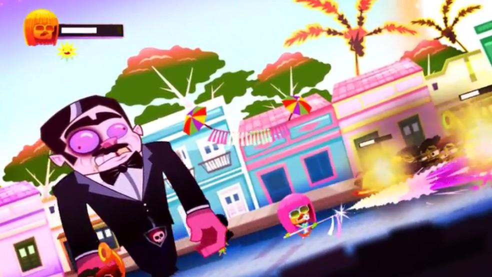 Olinda e seus bonecos gigantes também está representada no jogo (Foto: Reprodução)