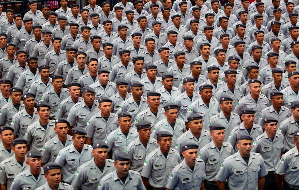 Pms promovidos no RN (Foto: Demis Roussos/ Governo do RN)