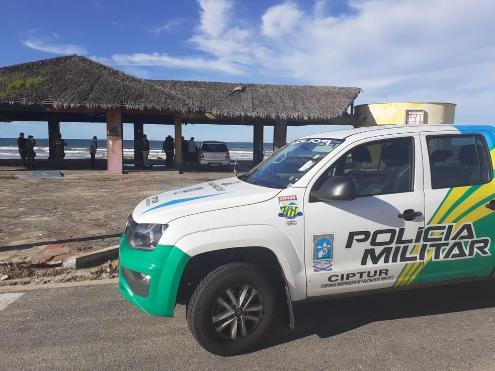 Acesso à praias não será permitido. — Foto: Tiago Mendes/ TV Clube