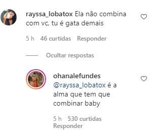 Ohana Lefundes responde comentários sobre namoro (Foto: Reprodução / Instagram)