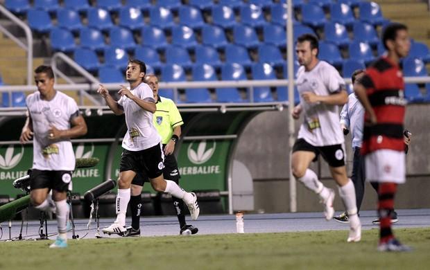 Resende comemora gol sobre o Flamengo (Foto: Marcelo Theobald/Agência O Globo)