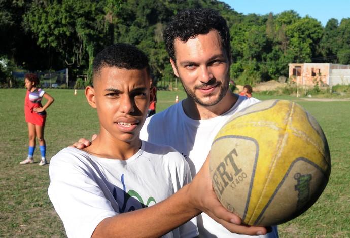 Rúgbi Rodrigo Robert Malengreau projeto social UmRio São Gonçalo (Foto: André Durão)