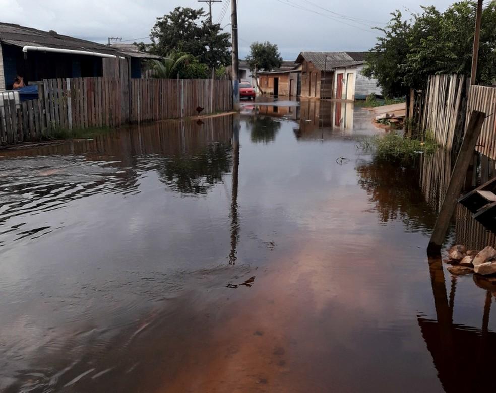 -  Defesa Civil irá avaliar situação na cidade  Foto: Dalton Pacheco/Prefeitura Laranjal do Jari/Divulgação