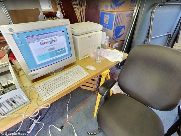 Interior do escritório do Google em 1998 (Foto: Divulgação/Google Maps)